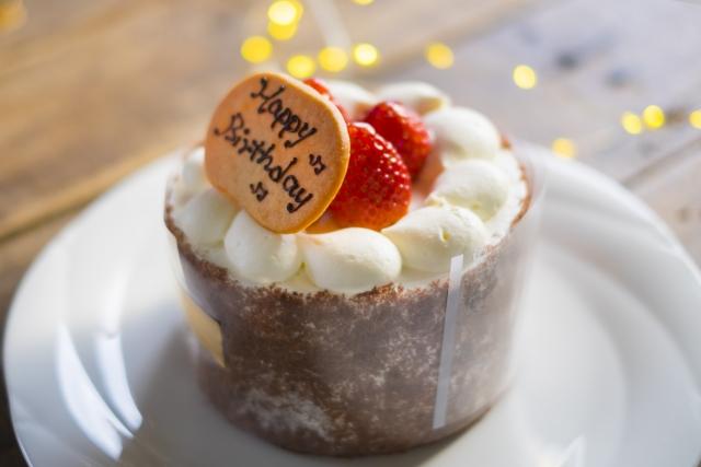 誕生日ケーキのプレート